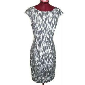Calvin Klein Dress 8 Gray Stretch Sheath M…
